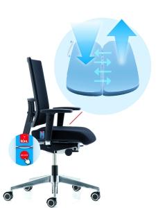 KÖHL AIR-SEAT bureaustoel met armleuning